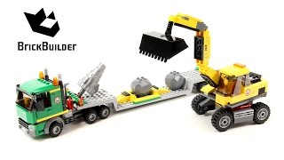Lego City 4203 Excavator Transporter - Lego Speed Build