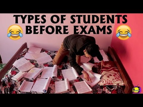 TYPES OF STUDENTS BEFORE EXAMS || Comedy Video || HahahaTV Nepal