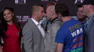 LEMIEUX & O'SULLIVAN HEATED FACE OFF! CANELO VS GGG 2 UNDERCARD PRESS CONFERENCE HIGHLIGHTS!