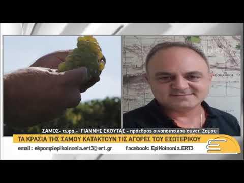 Τα κρασιά της Σάμου κατακτούν τις αγορές του εξωτερικού   7/1/2019   ΕΡΤ