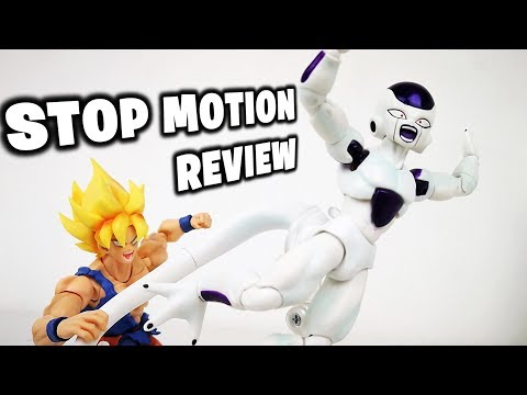 FRIEZA vs GOKU Stop Motion Review Dragon Ball | Unboxing Review FREEZER Ultima forma Sh Figuarts