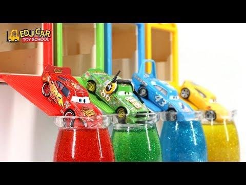 Learning Color Special Disney Pixar Cars Lightning McQueen Mack Truck Slime Play for kids car toys