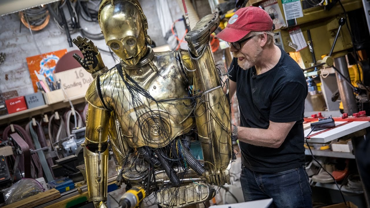 Watch Adam Savage Combine Chewbacca And C-3PO Into One Glorious Costume