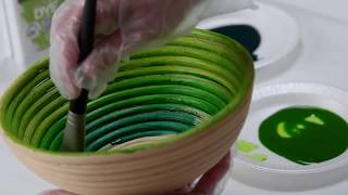 DIY Ultra Dye Painted Decorative Bowls