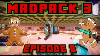 Minecraft MadPack 3 Let's Play Ep.8: Finding Gingerbread Guard Mini Boss