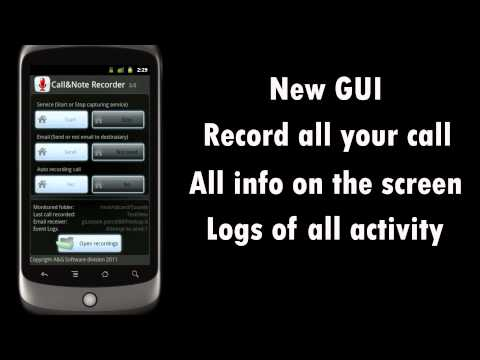 Video of Call&Note Recorder Mailer PRO