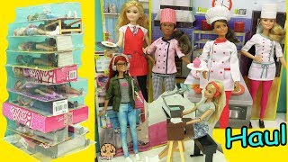 Giant Career Barbie Haul - Chef, Rock Star, Game Maker + More Dolls