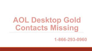 AOL Desktop Gold Contacts Missing