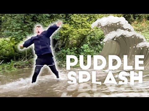 SPLASHED my bro with 1000 puddles - Prankmas 06