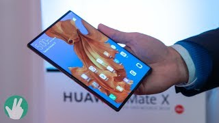 Huawei Mate X First Look: The wallpaper TV of phones