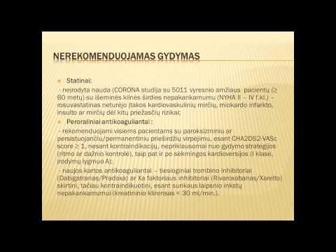 Hipertenzijai, aritmijai ir krūtinės anginai gydyti