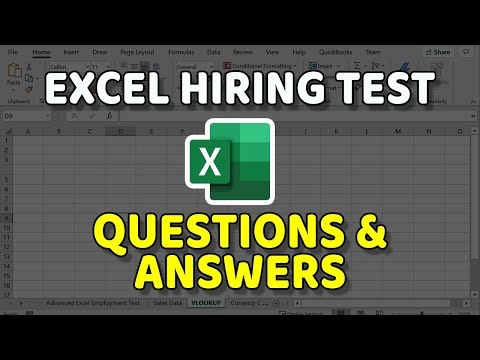 Excel Hiring Test Questions and Answers - YouTube