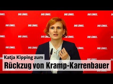 Katja Kipping zum Rückzug von Annegret Kramp-Karrenbauer