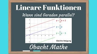 LINEARE FUNKTION: parallele und senkrechte Geraden. (Schule, Mathe ...
