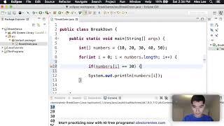 Break Java Tutorial