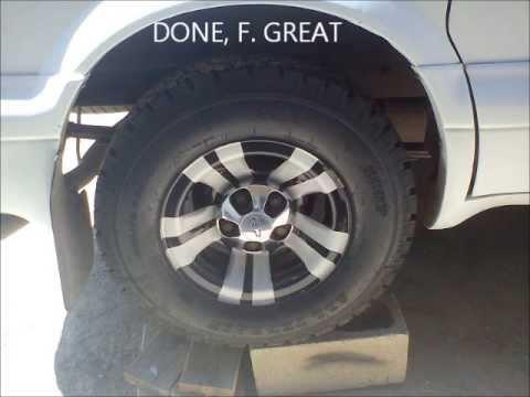 Chevy Astro, How to modify OEM wheels