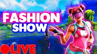 FORTNITE FASHION SHOW LIVE! Skin Competition CUSTOM MATCHMAKING SOLO/DUOS/SQUADS (Winner=Prize)