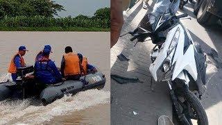 Korban yang Jatuh ke Sungai Bengawan Solo Akibat Kecelakaan di Gresik Belum Berhasil Ditemukan