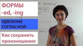 Удвоение согласной при образовании форм глаголов. Английский для начинающих