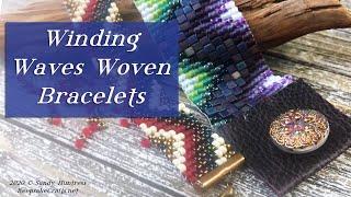 Winding Waves Woven Bracelet- Loom (or No-Loom) Bead Weaving Jewelry Tutorial