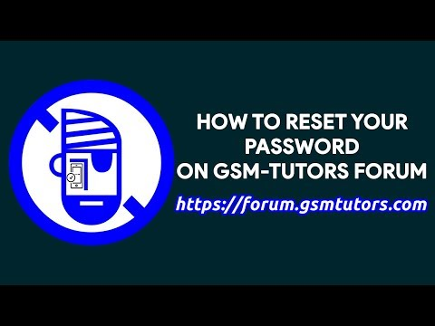 How To Reset Your Password On GSM-Tutors Forum - [romshillzz]