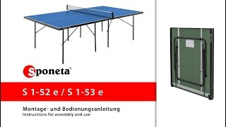 Sponeta S 1-52 e / S 1-53 e - Montageanleitung Tischtennistisch / Instructions for assembly and use