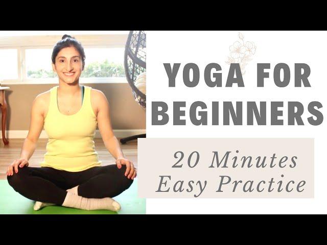 Yoga for Beginners – 20 Minutes Easy Yoga Practice – Yoga With Karishma