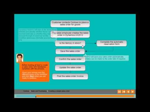 Microsoft Dynamics AX2012 Training - eLearning Example - YouTube