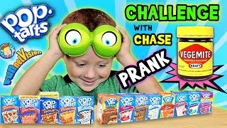 POP TART CHALLENGE & VEGEMITE Joke on 4 Year Old CHASE FV Family  Parents Battle