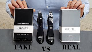 Fake vs Real Carolina Herrera Good Girl Tester Perfume 80 ML