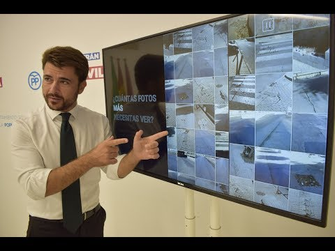 """El PP muestra 2.500 fotos de calles """"peligrosas"""" para el sevillano"""