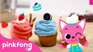 🧁How to make Cupcake with Clay   Clay Bakery   Pinkfong Clay Time