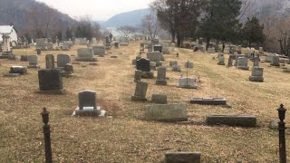 The historic cemetery at Harpers Ferry West Virginia