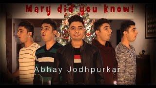 Mary did you know? (Cover) by Abhay Jodhpurkar   Christmas Songs   Latest Covers   Merry Christmas