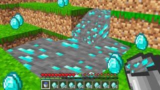 Minecraft BUT diamond is liquid...