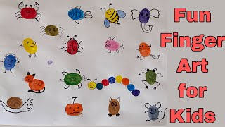 Finger Painting For Kids/ Easy Thumb Painting / Fun Art Activities For Kids