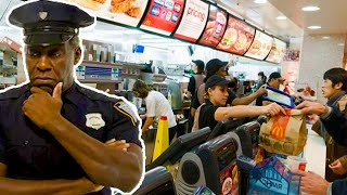 Restaurant Workers Mock Cop And Refuse Service — Pay The