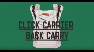 ByKay Click Carrier csatos hordozó felrakása hátra