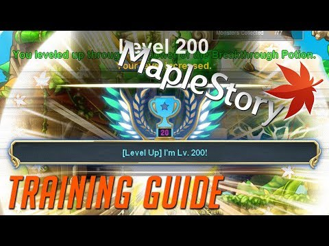 maplestory levelling guide