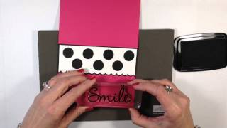 Simply Simple FLASH CARD 2.0 - Polka Dotted Smile Card By Connie Stewart