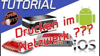 Drucken im Netzwerk - Tutorial - Einrichten Windows Android IOS - WLAN - USB - Drucker- Deutsch