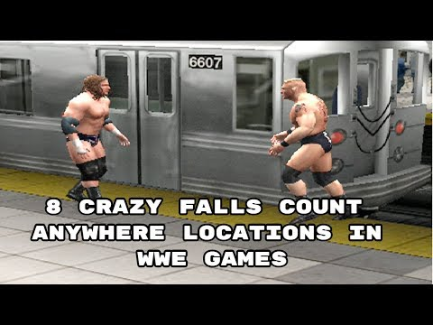 8 Crazy Falls Count Anywhere Locations In WWE Games