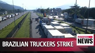 Brazilian truckers strike for fourth day as diesel tax cuts stall - Video Youtube