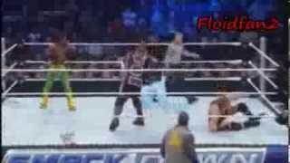Smackdown 02/14/14 Jack Swagger vs Kofi Kingston vs Mark Henry vs Rey Mysterio Highlights