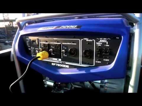 Yamaha EF7200DE Generator in Philipsburg, Montana - Video 1