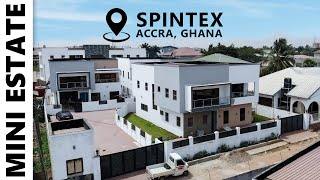 Inside a Mini Estate in Spintex, Accra, Ghana with 3 Houses