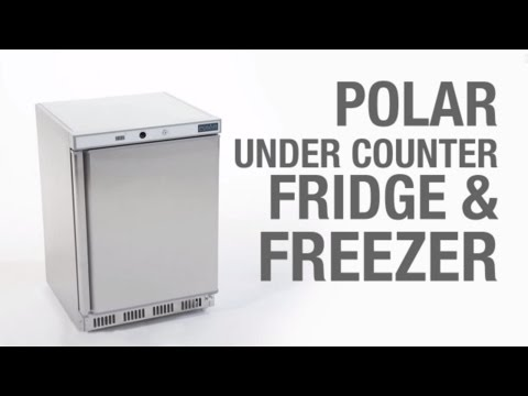 Video Polar RVS onderbouw vrieskast - 140 liter - CD081