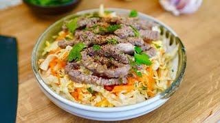 Salade thaï de boeuf bio inspirée des larmes du tigre, une recette facile et super goûteuse !
