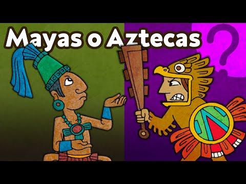 Jaký je rozdíl mezi Aztéky a Mayi?