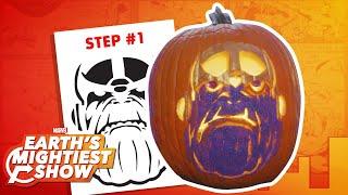 How to make a Thanos pumpkin for Halloween! | Earth's Mightiest Show Bonus